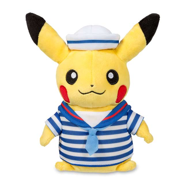 "Image for Pikachu Celebrations: Beach Walk Pikachu Poké Plush (Standard Size) - 8"" from Pokemon Center"