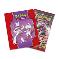 Image for Pokémon TCG: Mega Mewtwo X and Mega Mewtwo Y Collector's Album with Booster Pack from Pokemon Center