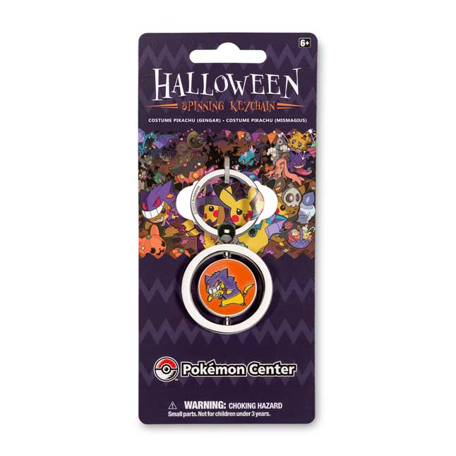 Image for Gengar and Mismagius Costume Pikachu  Spinning Keychain from Pokemon Center