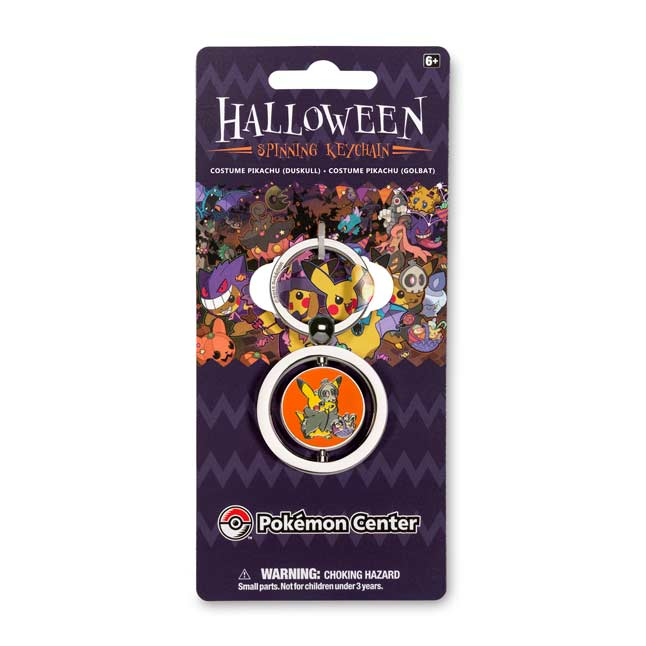 Image for Duskull and Golbat Costume Pikachu Spinning Keychain from Pokemon Center