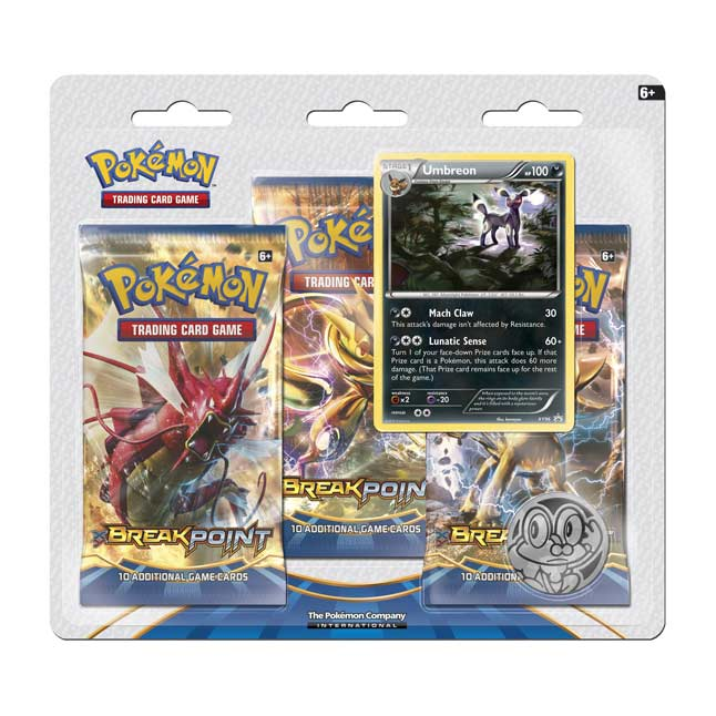 Image for Pokémon TCG: 3 Breakpoint Booster Packs with Bonus Umbreon Promo Card from Pokemon Center
