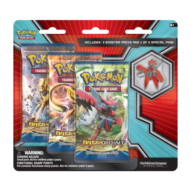 Image for Pokémon TCG: 3 Booster Packs with Mega Scizor Collector's Pin from Pokemon Center