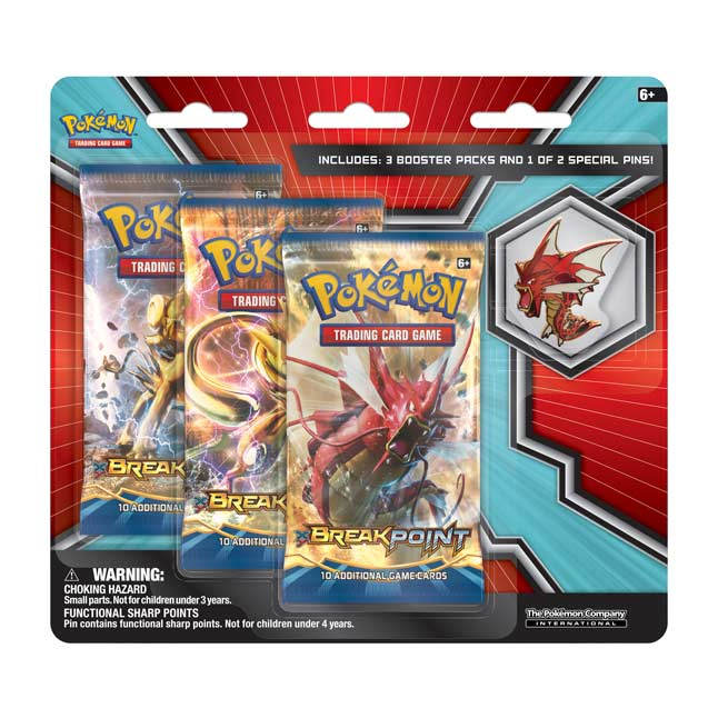 Image for Pokémon TCG: 3 Booster Packs with Shiny Mega Gyarados Collector's Pin from Pokemon Center