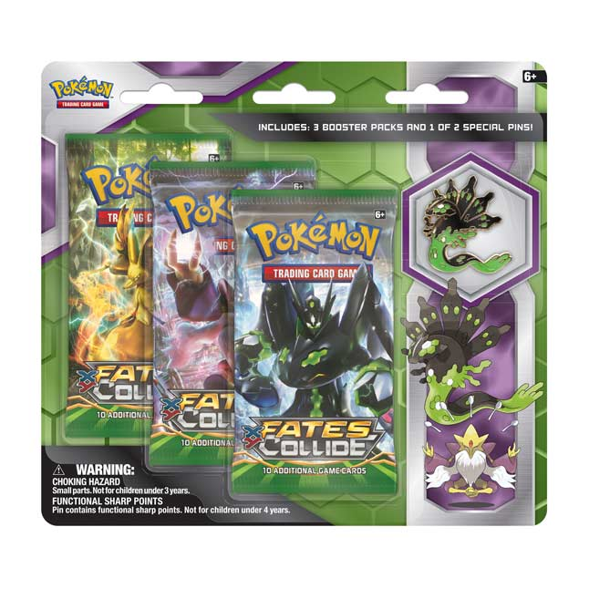 Image for Pokémon TCG: 3 Booster Packs with Zygarde Collector's Pin from Pokemon Center