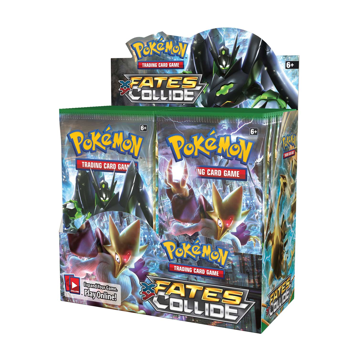 FACTORY SEALED POKEMON FATES COLLIDE SLEEVED BOOSTER PACK x 5