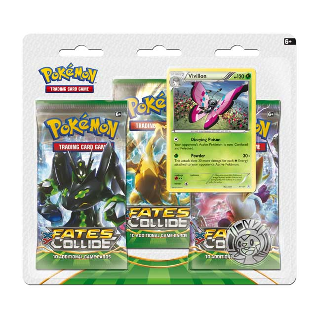 Image for Pokémon TCG: XY—Fates Collide Boosters (3 Booster Packs with Vivillon Promo Card and Coin) from Pokemon Center