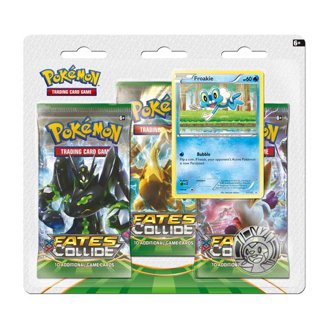 Image for Pokémon TCG: XY—Fates Collide Boosters (3 Booster Packs with Froakie Promo Card and Coin) from Pokemon Center