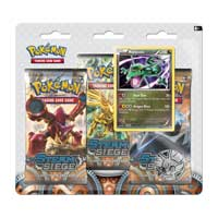 Pokémon TCG: XY-Steam Siege Boosters (3 Booster Packs with Rayquaza Promo Card and Coin)
