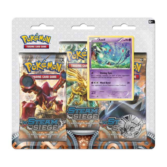 Image for Pokémon TCG: XY-Steam Siege Boosters (3 Booster Packs with Azelf Promo Card and Coin) from Pokemon Center