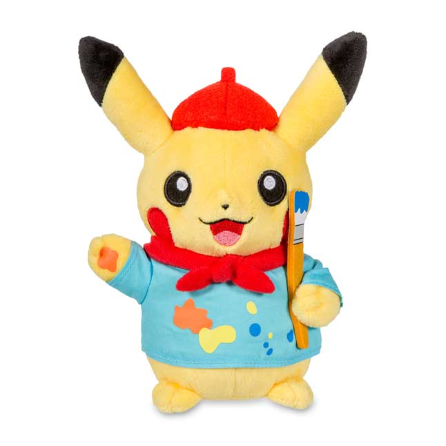 "Image for Pikachu Celebrations: Artist Pikachu Poké Plush (Standard Size) - 8"" from Pokemon Center"