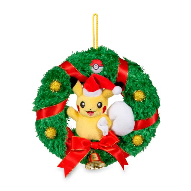 "Image for Pikachu Holiday Wreath - 7"" from Pokemon Center"