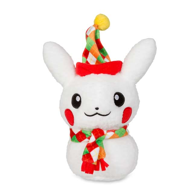 "Image for Pikachu Holiday Snowman Poké Plush (Male) (Standard Size) - 7 1/2"" from Pokemon Center"