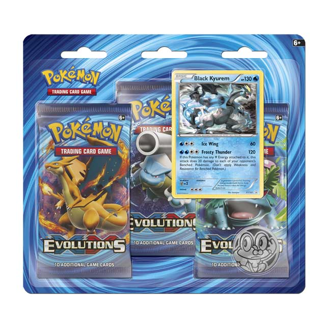 Image for Pokémon TCG: XY—Evolutions Boosters (3 Booster Packs with Black Kyurem Pin) from Pokemon Center