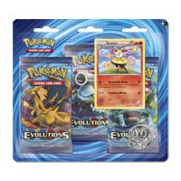 Pokémon TCG: XY—Evolutions Boosters (3 Booster Packs with Coin and Braixen Card)