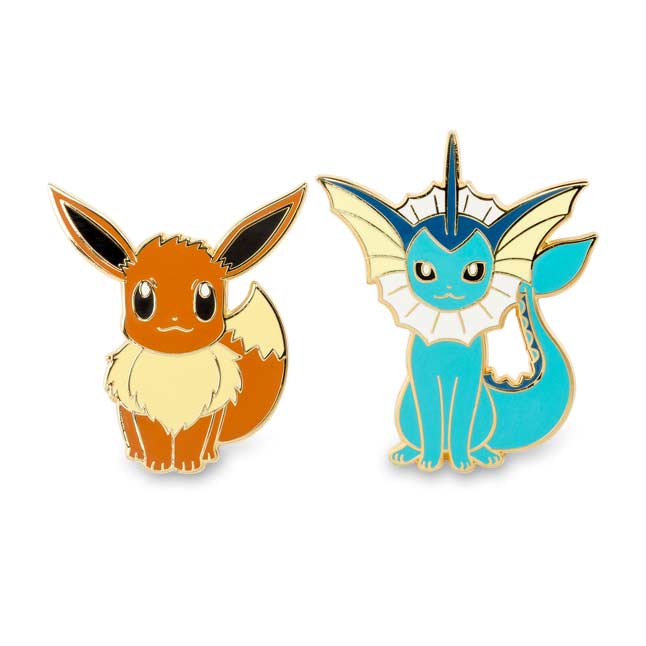 Image for Eevee and Vaporeon Pokémon Pins (Evo 2 Pack) from Pokemon Center