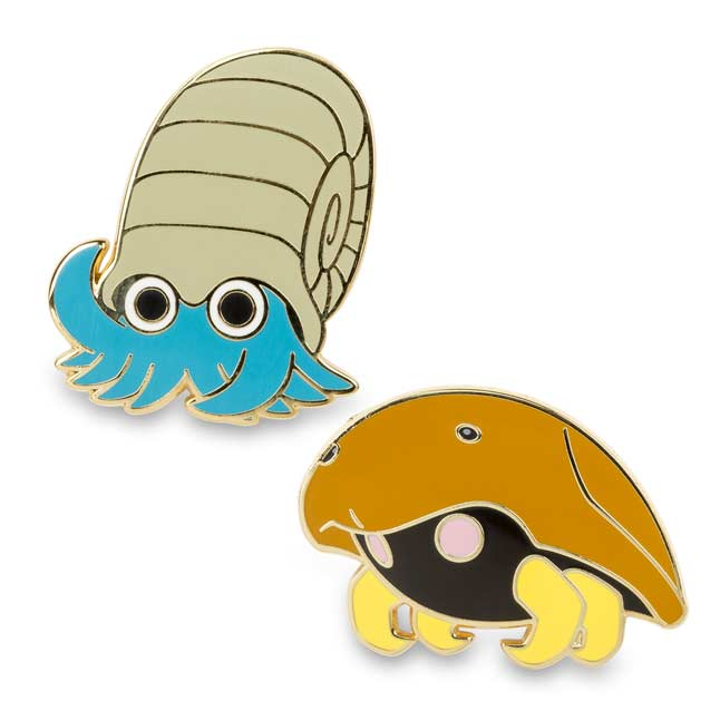 Image for Omanyte and Kabuto Pokémon Pins (2 Pack) from Pokemon Center
