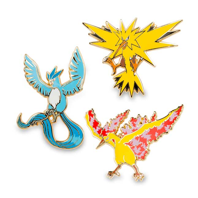 Image for Articuno Zapdos Moltres Pokémon Pins (3 Pack) from Pokemon Center