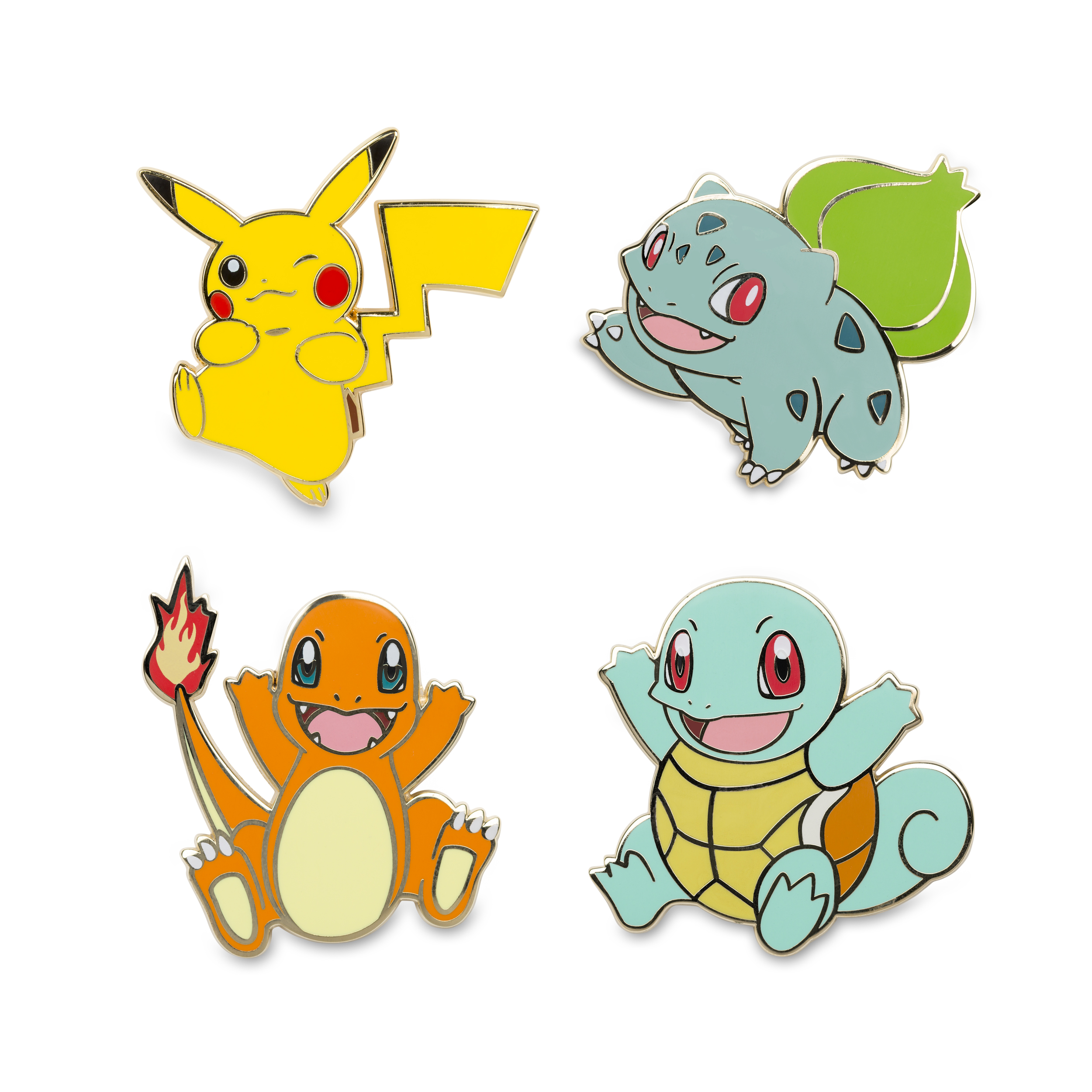 Pikachu Bulbasaur Charmander Squirtle | Pokémon Pins | pin ...