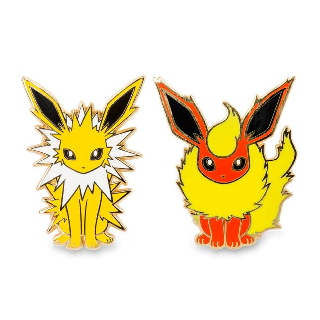Image for Jolteon and Flareon Pokémon Pins (2 Pack) from Pokemon Center