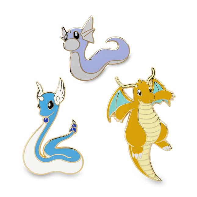 Image for Dratini Dragonair Dragonite Pokémon Pins (Evo 3 Pack) from Pokemon Center