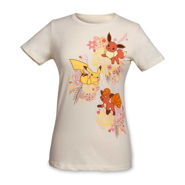 Image for Kanto Blossoms Women's Fitted Crewneck T-Shirt from Pokemon Center