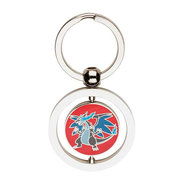 Image for Mega Charizard X and Mega Charizard Y Spinning Keychain from Pokemon Center