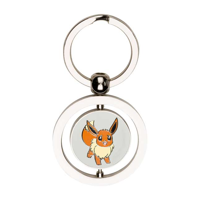 Image for Eevee and Vaporeon Spinning Keychain from Pokemon Center