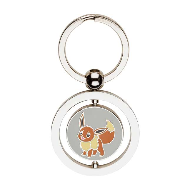 Image for Eevee and Flareon Spinning Keychain from Pokemon Center