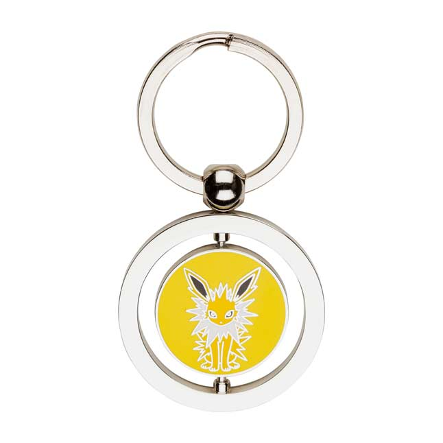Image for Eevee and Jolteon Spinning Keychain from Pokemon Center