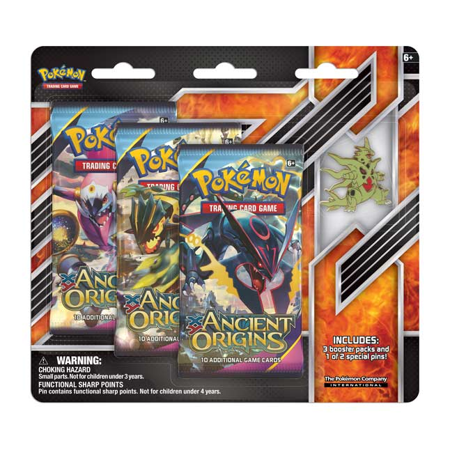 Image for Pokémon TCG: 3 Booster Packs with Mega Tyranitar Collector's Pin from Pokemon Center