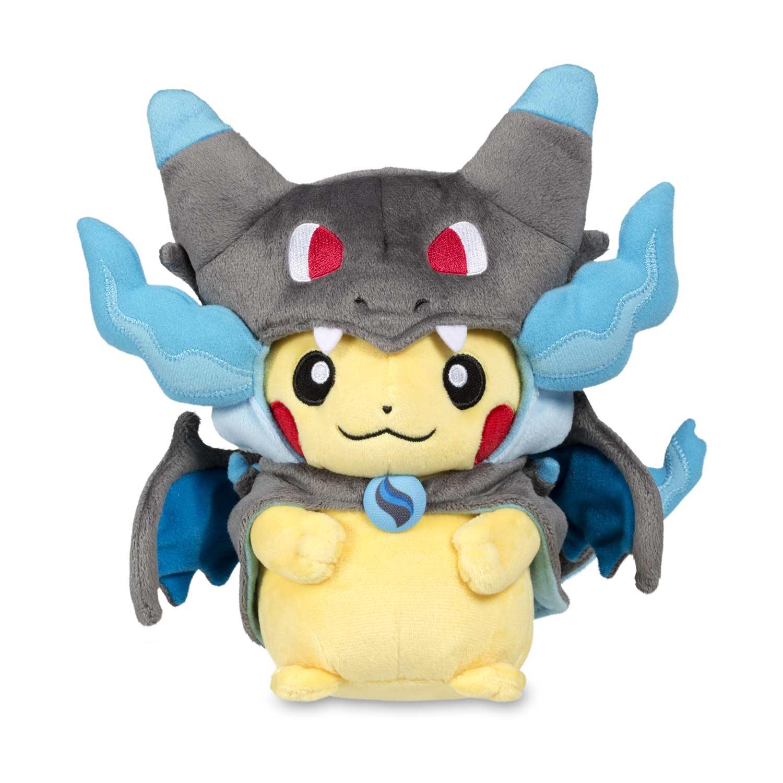 mega charizard x costume pikachu pok233 plush pok233mon