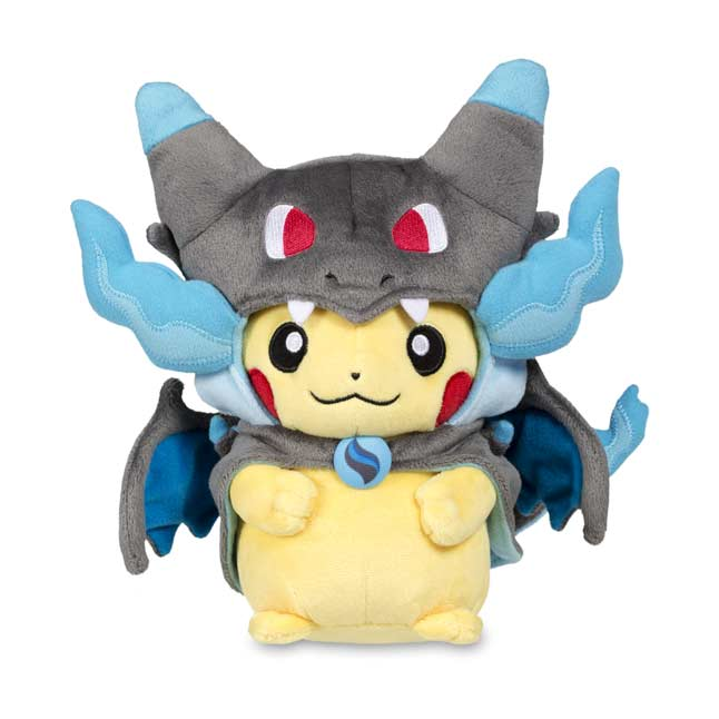 "Image for Mega Charizard X Costume Pikachu Poké Plush (Standard Size) - 10"" from Pokemon Center"