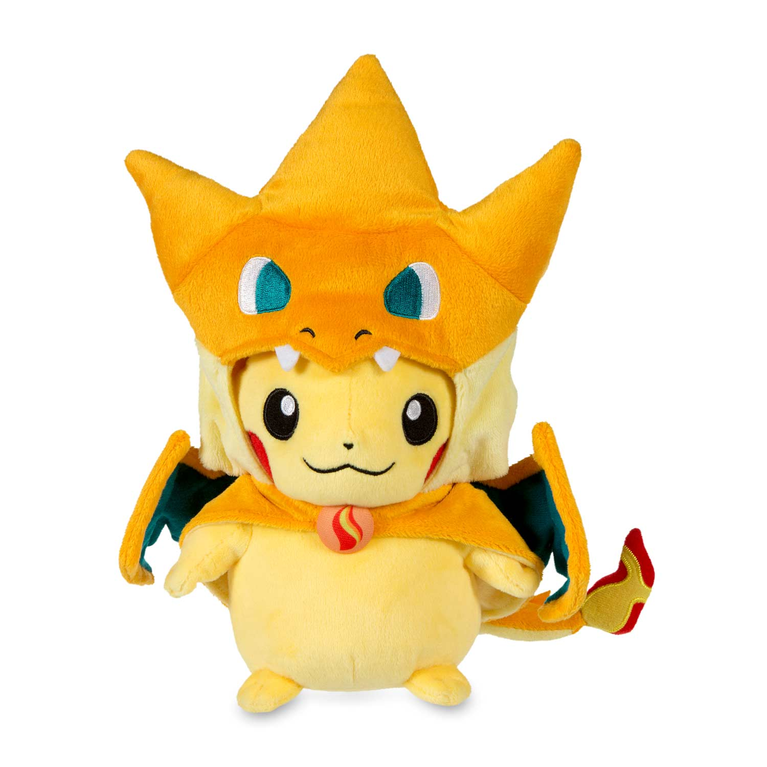 Mega Charizard Y Costume Pikachu Poke Plush Pokemon Center Original