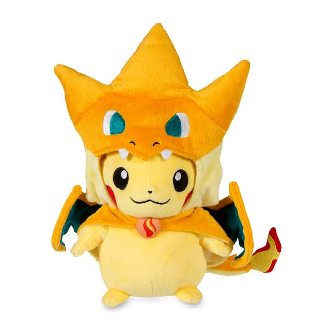 "Image for Mega Charizard Y Costume Pikachu Poké Plush (Standard Size) - 10"" from Pokemon Center"