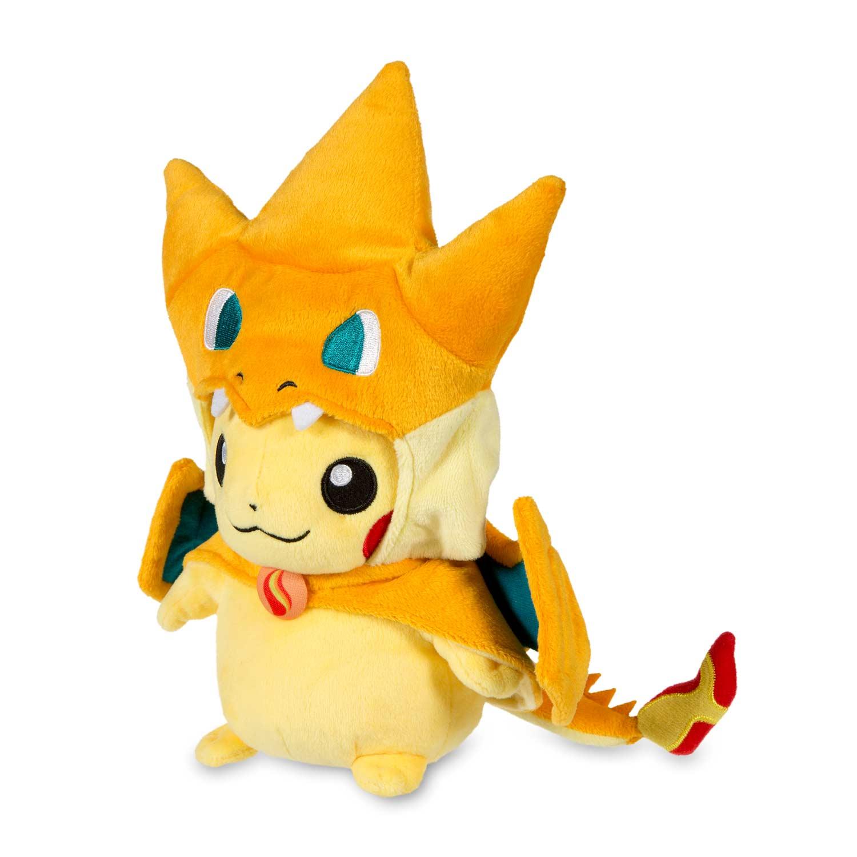 Mega Charizard Y Costume Pikachu Poké Plush Pokémon Center Original