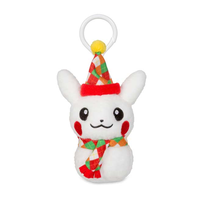 Image for Pikachu Holiday Snowman Plush Keychain (Male) from Pokemon Center