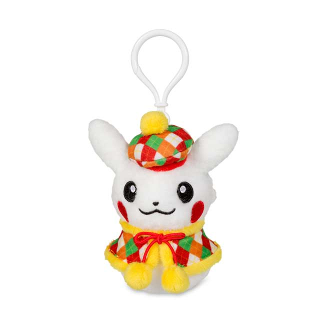 Image for Pikachu Holiday Snowman Plush Keychain (Female) from Pokemon Center