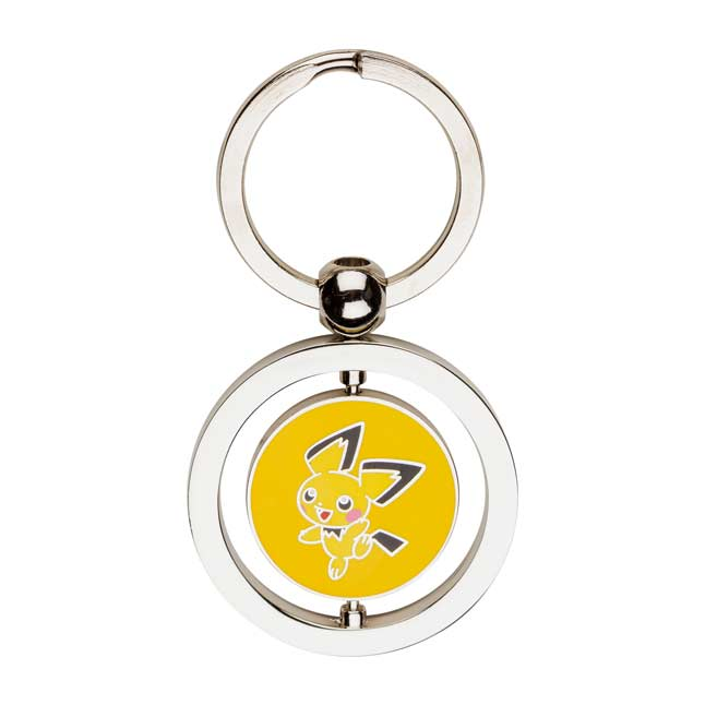 Image for Pichu and Pikachu Spinning Keychain from Pokemon Center