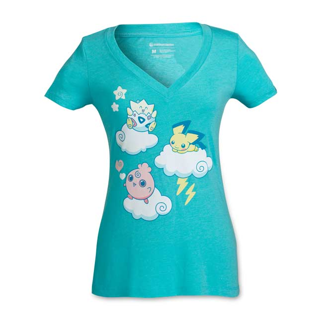 Image for Johto Cuties Women's Fitted V-Neck T-Shirt from Pokemon Center