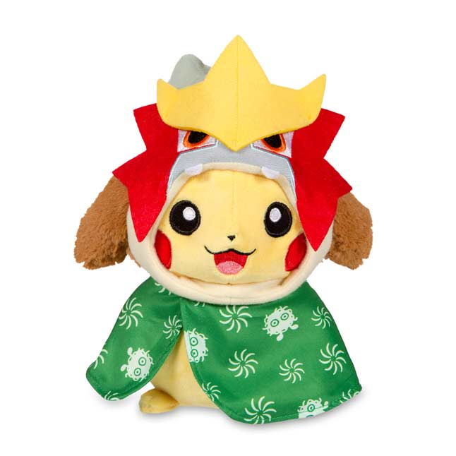 "Image for Pikachu Celebrations: Lion Dancer Pikachu Poké Plush (Standard Size) - 7 3/4"" from Pokemon Center"