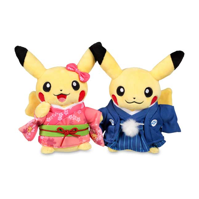 "Image for Paired Pikachu Celebrations: New Year Kimono Pikachu (Standard) - 8"" from Pokemon Center"