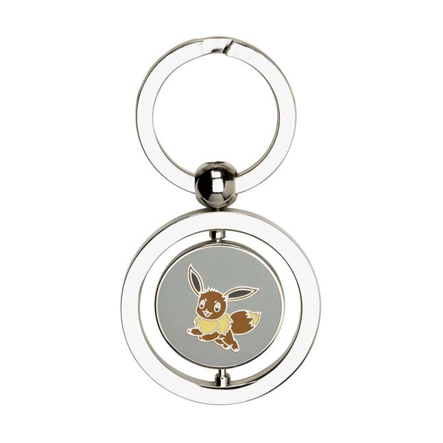Image for Eevee and Leafeon Spinning Keychain from Pokemon Center