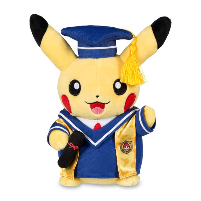 "Image for Pikachu Celebrations: Graduate Pikachu Poké Plush (Standard) - 8"" from Pokemon Center"