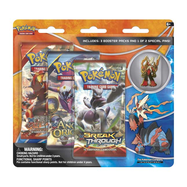 Image for Pokémon TCG: 3 Booster Packs with Mega Blaziken Collector's Pin from Pokemon Center