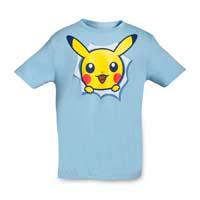 Pikachu Hip Pop Parade Youth Relaxed Fit Crewneck T-Shirt