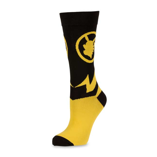 Image for Pikachu Silhouette Sync Mid-Calf Socks (One Size-Adult) from Pokemon Center
