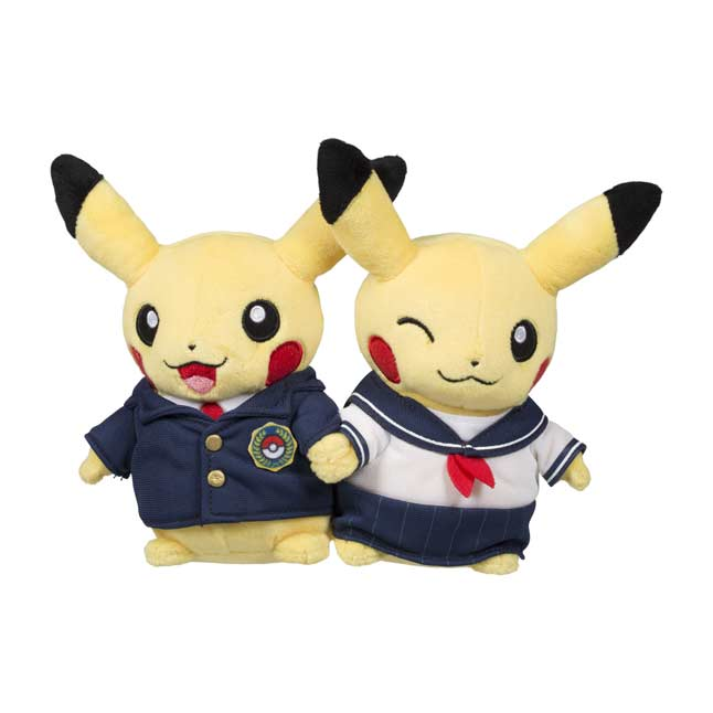 Image for Paired Pikachu Celebrations School Uniform Plush from Pokemon Center