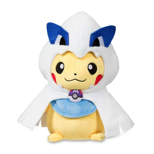 "Image for Pikachu with Lugia Hoodie Poké Plush (Standard) - 8"" from Pokemon Center"