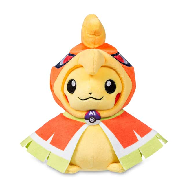 "Image for Pikachu with Ho-Oh Hoodie Poké Plush (Standard) - 8"" from Pokemon Center"