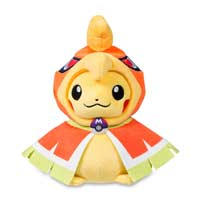 Pikachu with Ho-Oh Hoodie Poké Plush (Standard) - 8 In.